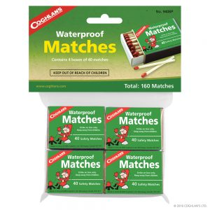 Cohglan's Waterproof Matches 4pk