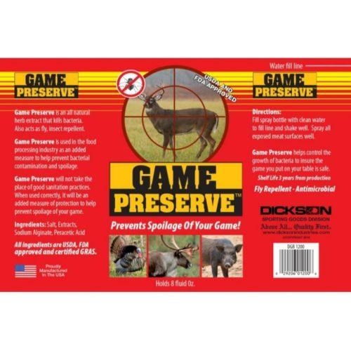 Dickson Game Preserve 8oz