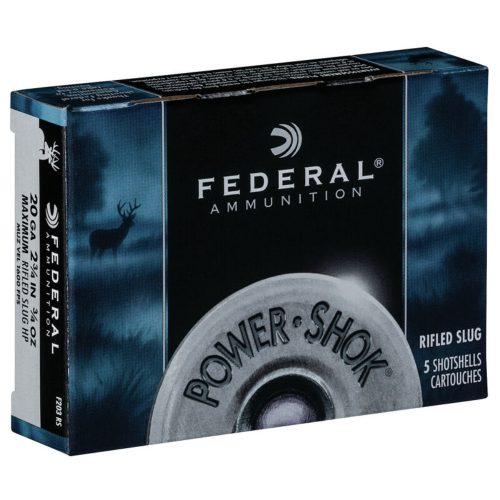 Federal Power-Shok 20ga Rifled Slugs