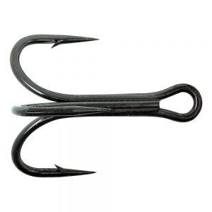 Mustad Black 3x Treble Hook 5Pk