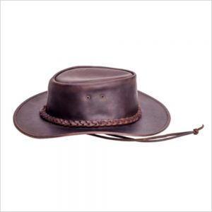 Amundson Lerado Long Gun Outback Leather Hat